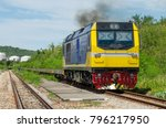 freight train going to the... | Shutterstock . vector #796217950