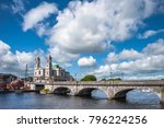 athlone town and shannon river  ... | Shutterstock . vector #796224256