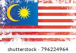 flag of malaysia. wrinkled... | Shutterstock . vector #796224964