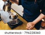 women barista to make a drip... | Shutterstock . vector #796228360