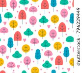 colorful seamless pattern from... | Shutterstock .eps vector #796229449