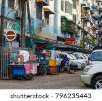 yangon  myanmar   feb 27  2016. ... | Shutterstock . vector #796235443