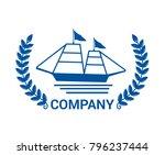 blue ship travel transportation ... | Shutterstock .eps vector #796237444