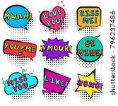 big bright retro comic speech...   Shutterstock .eps vector #796237486