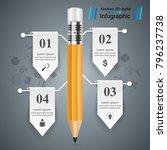 pencil  education icon.... | Shutterstock .eps vector #796237738