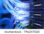 fiber optical connector... | Shutterstock . vector #796247020