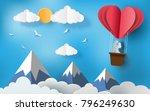 cute couples in love hugging ... | Shutterstock .eps vector #796249630