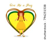national hug day background...   Shutterstock .eps vector #796251538