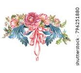 flower watercolor composition... | Shutterstock . vector #796251880