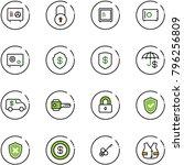 line vector icon set   safe...   Shutterstock .eps vector #796256809