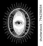 ornate mystic eye inside the... | Shutterstock .eps vector #796258054