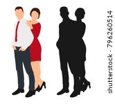 guy and girl without a face ... | Shutterstock . vector #796260514