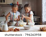 happy sisters children girls... | Shutterstock . vector #796263958