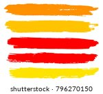 collection of hand drawn golden ... | Shutterstock .eps vector #796270150