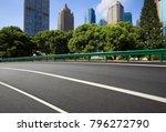 empty road surface floor with... | Shutterstock . vector #796272790
