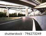 empty road floor with city... | Shutterstock . vector #796273249