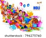 vector illustration of india... | Shutterstock .eps vector #796275760