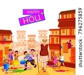 vector illustration of india... | Shutterstock .eps vector #796275859