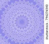 seamless pattern with mandala... | Shutterstock .eps vector #796276540