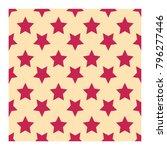 pink stars seamless pattern... | Shutterstock .eps vector #796277446