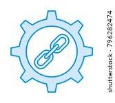 setting chain url  | Shutterstock .eps vector #796282474