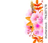 bouquet watercolor floral ... | Shutterstock .eps vector #796287178