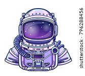 animation astronaut in a space... | Shutterstock .eps vector #796288456