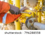the production operator... | Shutterstock . vector #796288558