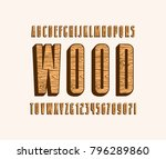 decorative sans serif bulk font ...   Shutterstock .eps vector #796289860