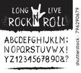 rocknroll alphabet font. set of ...   Shutterstock .eps vector #796290679