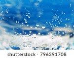 the texture of water is...   Shutterstock . vector #796291708