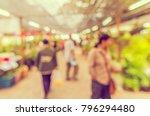 abstract blur people in outdoor ... | Shutterstock . vector #796294480
