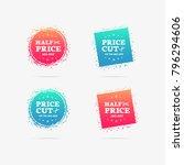 half price   price cut 50  off... | Shutterstock .eps vector #796294606