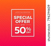 special offer 50  off label | Shutterstock .eps vector #796294609