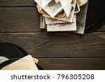 vintage background with a frame ... | Shutterstock . vector #796305208