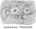 hand drawn doodle element in... | Shutterstock .eps vector #796310599