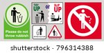 clean sticker sign for office ... | Shutterstock .eps vector #796314388