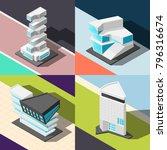 futuristic architecture 2x2... | Shutterstock .eps vector #796316674