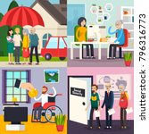 social security orthogonal... | Shutterstock .eps vector #796316773