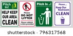 clean sticker sign for office... | Shutterstock .eps vector #796317568