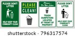 clean sticker sign for office... | Shutterstock .eps vector #796317574