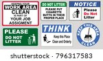 clean sticker sign for office... | Shutterstock .eps vector #796317583