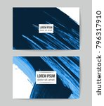 set of vector business card... | Shutterstock .eps vector #796317910