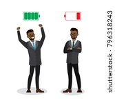strong and tired businessmen... | Shutterstock .eps vector #796318243