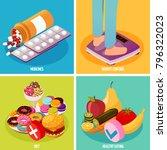 diabetes monitoring isometric... | Shutterstock .eps vector #796322023