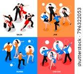 dance with partner design... | Shutterstock .eps vector #796322053