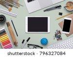 tablet   smartphone mockup   Shutterstock . vector #796327084