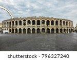 the verona arena  arena di... | Shutterstock . vector #796327240