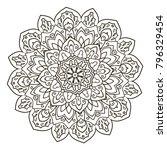 mandala. ethnic decorative... | Shutterstock .eps vector #796329454