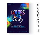 party vector poster template... | Shutterstock .eps vector #796330120